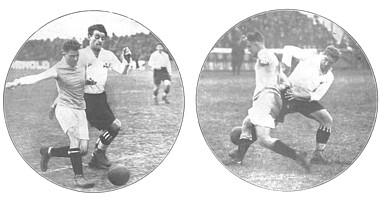 Die Kleeblatt-Legenden Lony Seiderer (links) und Resi Franz (rechts) in Spielszenen aus den 1920ern.