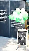 """Ab Samstag für alle geöffnet, der neue Fanshop """"Sportheim""""."""