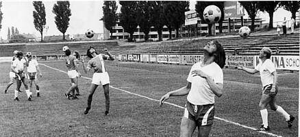 Training in den frühen 1970ern.