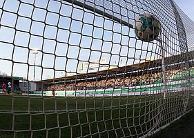 Dursun trifft mit rechts am 31. Spieltag gegen den VfL Bochum