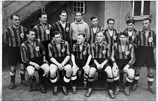 Die Mannschaft der Spielvereinigung im Jahr 1936.