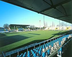 """Das """"Playmobil-Stadion"""" im Jahr 1999."""