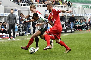 13. April: Dämpfer im Kampf um den Klassenerhalt. Das Kleeblatt war zuvor seit 11 Heimspielen ungeschlagen. Am 30. Spieltag setzte es dann die bittere 1:2-Niederlage gegen den SSV Jahn Regensburg.