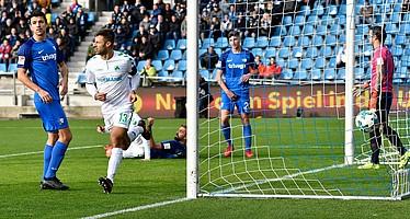 Caligiuri trifft in der 7. Spielminute gegen Bochum nach einer Vorlage von Maxi Wittek