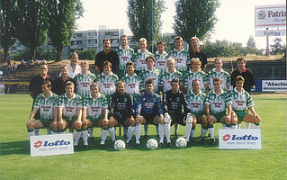 Das Team des Kleeblatts in der Saison 1994/95.