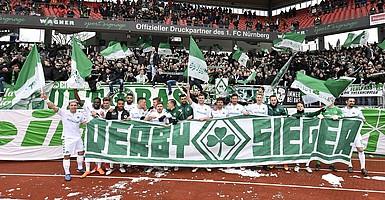 03. März: 2:0-Derby-Sieg gegen den 1. FC Nürnberg.