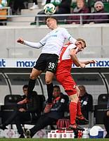 David Raum sichert sich den Ball gegen Philipp Klingmann vom SV Sandhausen