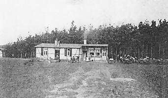 Das erste Sportheim im Ronhof im Jahr 1910.