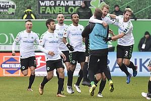 11. Februar: Lukas Gugganig erzielt den 1:0-Siegtreffer gegen Dresden und sichert dem Kleeblatt den ersten Heimsieg des Jahres.