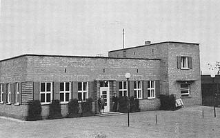 Das 1931 erbaute zweite Sportheim im Sportpark Ronhof.