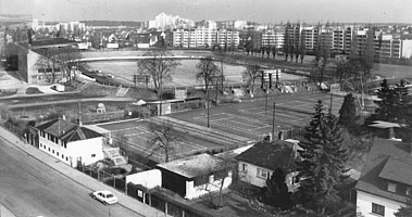 Luftbild des Ronhofs aus den 1970ern.