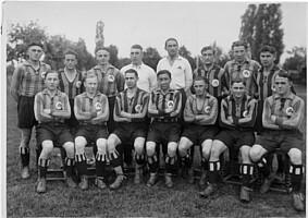 Das Team der Spielvereinigung im Jahr 1933.