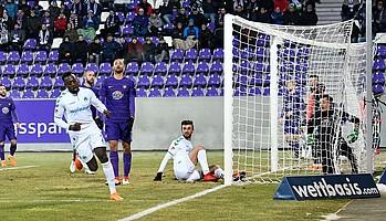 In Aue trifft Khaled Narey zum 30. Tor der Saison für die Spielvereinigung - leider reicht es nicht für einen Sieg