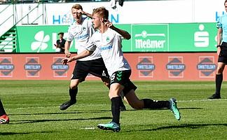 ist zwar nicht immer drin. Aber auch Tore, die einen Punkt sichern, wie das von Sebastian Ernst gegen den MSV Duisburg am vorletzten Spieltag, sind von enormer Bedeutung!