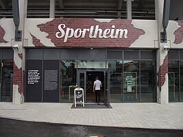 Das neue Sportheim, eröffnet im August 2018.
