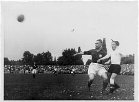 Georg Wagner in einem Oberliga-Spiel im Jahr 1946.