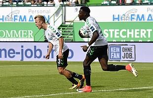 Das erste Kleeblatt-Tor der Saison erzielte Nik Omladic am 2. Spieltag. Punkte gab´s aber keine.